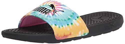 PUMA womens Cool Cat Slide Sandal, Phlox Pinkelektro Aquapuma Black, 7 US