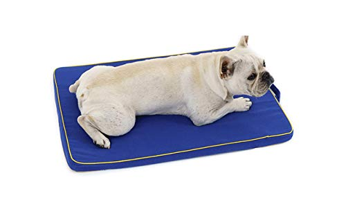 Petsupplies Large Dog Bed Mat Memory Foam Breathable Dog Beds Oxford Bottom Orthopedic Mattress Beds For Small Medium Large Pet-Blue-M