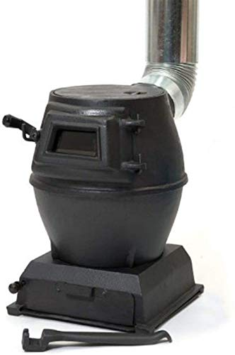 XHCP Estufa de leña portátil, Calentadores al Aire Libre Estufa de Chimenea de Hierro Fundido de combustibles múltiples 23X33CM