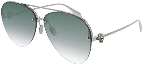 Alexander McQueen Gafas de Sol AM0270S Silver/Green Shaded 63/12/145 unisex