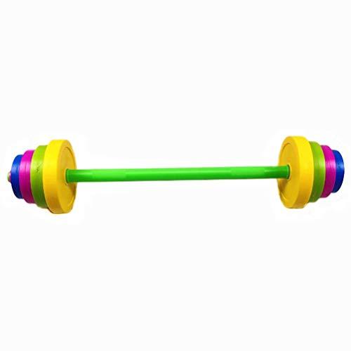 Garneck - Manubrio regolabile con bilanciere per bambini, set di allenamento per sport, palestra, allenamento, allenamento