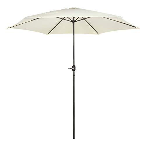 AKTIVE Garden 53989 Parasol hexagonal, diámetro 300 cm, Crema