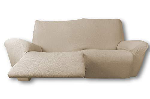 FRESH HOME HOME TEXTILES Funda de sofá elástica Relax Fun (Beige Claro, Sofá Relax 3 plazas.)