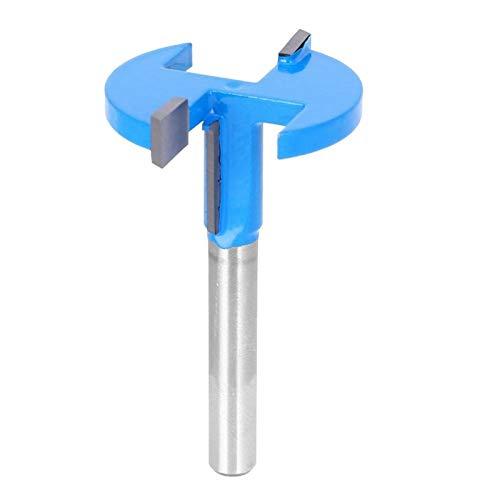 Broca de enrutador para superficies Broca de enrutador Tipo T Fresa Borde recto para recortadoras eléctricas(Straight-edged T-knife 6 handle blue)