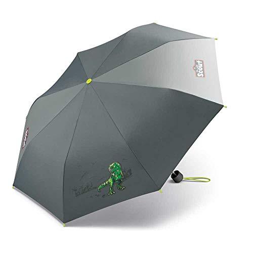 Scout Kinder Regenschirm Taschenschirm Schultaschenschirm mit großen Reflektionsflächen extra leicht T-Rex Dinosaurier