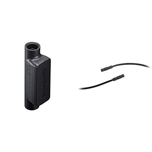 SHIMANO D-Fly Di2 2Xetube BT Man Transmisor, Unisex Adulto, Gris, Talla Única + E-Tube EWSD50L15 - Cable Eléctrico, 150 mm.
