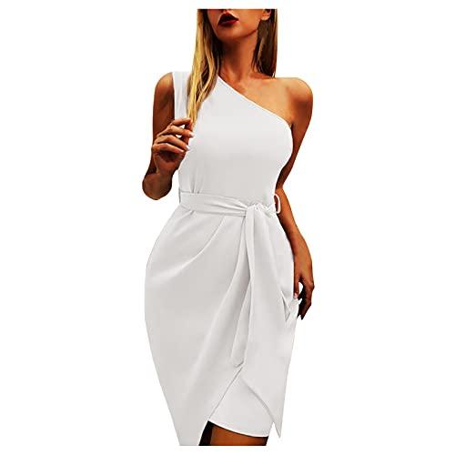 Harpily Vestido Largo para Mujer Asimétrico Hombros para Noche, Boda, Dama de...