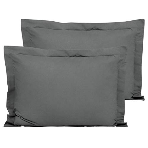 FLXXIE 2 Pack Microfiber Standard Pillow Shams, Ultra Soft and Premium Quality, 20