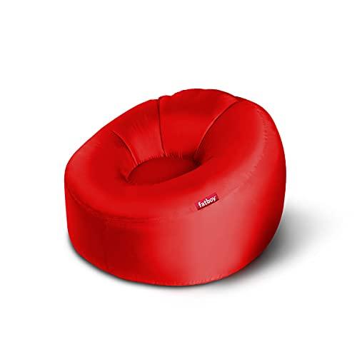 Fatboy® Lamzac O Canapé/Pouf/Sofa Gonflable Nomade | Rouge Hamac rempli d'air | pour l'extérieur (Plage, Jardin ou Piscine) | 110 x 103 x 62 cm