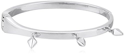 Rebecca Minkoff Stud Charm Hinge Rhodium Bangle Bracelet
