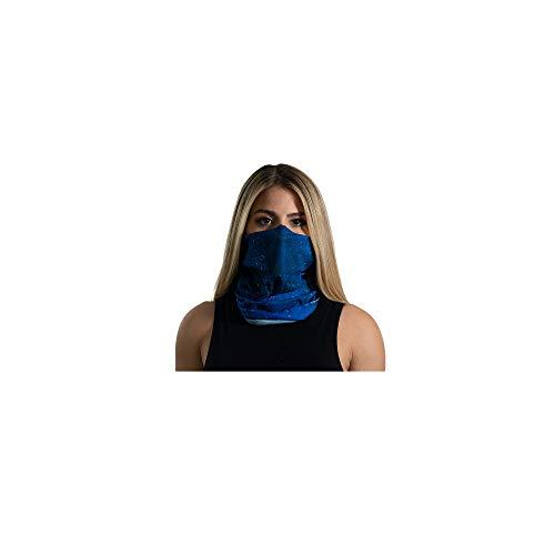 UT Face Shield - Multipurpose Neck Gaiter, Face Covering, Balaclava, Elastic Face Mask or Headband for Men Women and Children Black