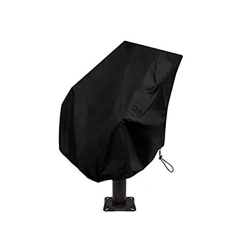 Funda para Asiento De Barco, Funda De Protección para Asiento De Barco, Funda para Asiento De Barco De Tela Oxford Resistente, Resistente A La Intemperie 210D Impermeable (Negro,65 x 65 x 120 cm)