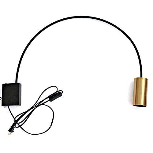 LXHK Gebogene Wandleuchte, Wandleuchte Gold Schwarz Led, Bogenlampe Wohnzimmer Modern, Einstellbare Flexibler Bogenlampe Schwenkkopf Wandmontage Spotlicht mit Kabel, für Schlafzimmer Bar,Gold