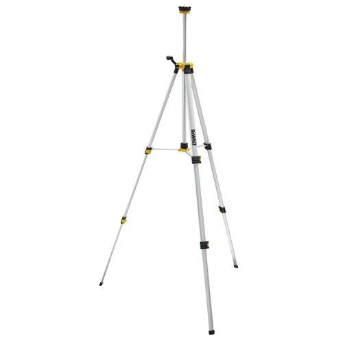 DeWalt Aluminium-Stativ (Leichtmetallkonstruktion mit 1/4 Zoll-Aufnahme, für den Einsatz mit den Dewalt Lasern, 360° horizontale Rotation möglich), DE0881