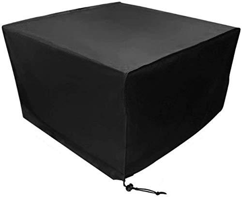 Protector de objeto, protección de muebles de jardín, impermeable, 120 x 120 x 74 cm, color negro