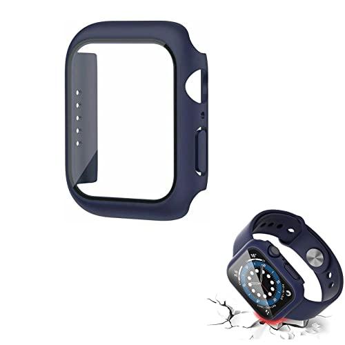 LASULEN para Apple Watch Series 7 Vidrio Templado + Cubierta Protectora de la Caja 41 / 45mm, Carcasa Protectora Integral Ultrafina para PC Carcasa Protectora