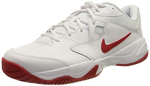 Nike NikeCourt Lite 2, Scarpe da Tennis Uomo, White/University Red, 39 EU
