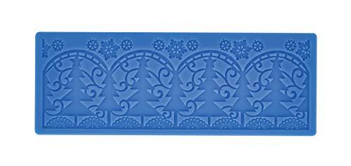 CREARTEC - universele decoratiemat/sjabloon - Kerstmis - voor het maken van gedetailleerde, sierlijke motieven met bijv. Paperpasta of zeep - 190 x 70 mm - Made in Germany