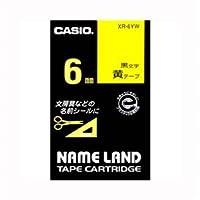 (業務用セット) カシオ ネームランド用テープカートリッジ スタンダードテープ 8m XR-6YW 黄 黒文字 1巻8m入 【×3セット】
