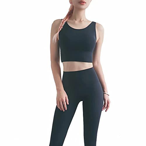 Sujetador deportivo para mujer, cómodo, sin costuras, para yoga, sin costuras, para entrenamiento - negro - X-Large