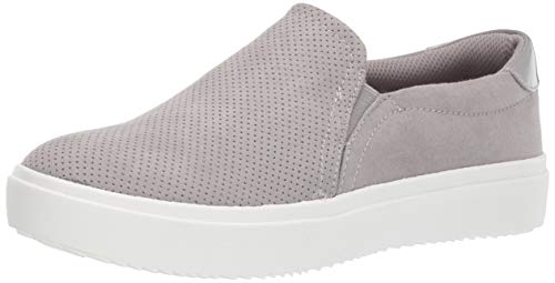 Dr. Scholl's Shoes Women's Wink Sneaker, grey cloud microfiber perforated, 8 M US