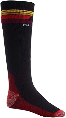 Burton Mens Emblem Midweight Sock, True Black New, Large