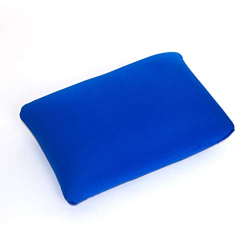 Cushie Pillows Microbead Squishy/Flexible/Hypoallergenic/Comfortable Rectangle Pillow (Blue, 13.5 inches x 10 inches)