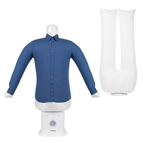 KLARSTEIN ShirtButler Deluxe - Centre de Repassage, Sèche et repasse, 1250 Watts, Taille compacte, Construction Solide, Voyant de contrôle LED, Matériau : Nylon Oxford, 6 Niveaux - Blanc Neige