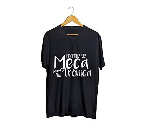 Camiseta Camisa Engenharia Mecatrônica Masculino Preto Tamanho:GG
