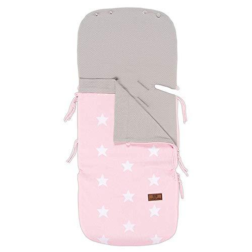 Baby's Only 911394 Sommer-Fußsack für Babyschale Sterne baby Rosa /Grau