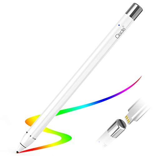 Ciscle Penna Stilo Ricaricabile con Punta Ultra fine da 1,45 mm, Compatibile con Apple iPad 2019 iPad 2018  iPhone, Samsung e a Maggior Parte dei dispositivi Touchscreen