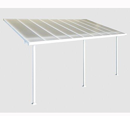 Fonteyn - Veranda in alluminio, 550 x 300 cm (larghezza x profondità), colore: bianco