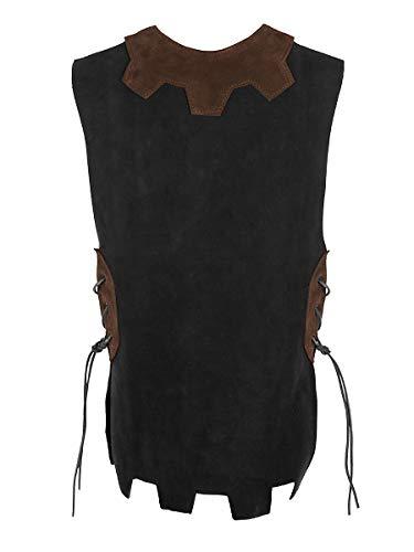Andracor – hochwertige Kinder-Lederrüstung für kleine Ritter und Schildknappen – Schwarz – Größe M - individuell einsetzbar für LARP, Cosplay, Mittelalter, Fantasy