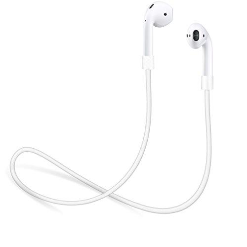 innoGadgets Strap kompatibel mit AirPods 1 und 2 / Pro | Halteband für AirPods aus geschmeidigem Silikon - Perfekt um Sich die Kopfhörer um den Hals zuhängen - 55cm