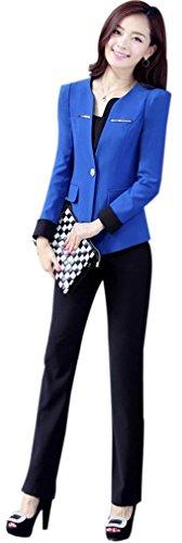 Yinxiang Liying Dames aantrekkelijk dun zakelijk pak blazer broek set