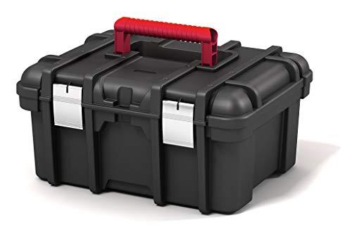 Keter | Werkzeugkasten Jumbo 16 Zoll NEW, schwarz, Werkzeugbox, 41,9 x 32,7 x 20,5 cm