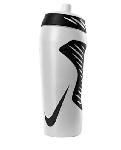 Nike Hyperfuel Wasserflasche, 510 ml, transparent/schwarz/schwarz