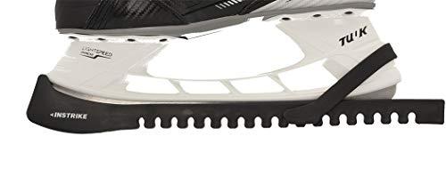 INSTRIKE Kufenschoner schwarz (Paar) - sehr leicht aufzustecken und hält auf alle Größen da universal Kompatibel auch für Bauer, CCM, GRAF, Head und Allen Anderen Schlittschuhe