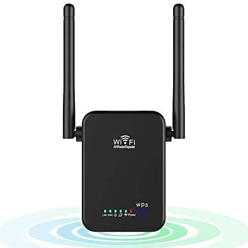 Tanouve Repetidor WiFi, 2.4G/300Mbps Amplificador WiFi Amplificador Señal WiFi con Botón WPS WiFi Extender Largo Alcance con Modo Repetidor/Ap/Enrutador para Casa Oficina Hotel