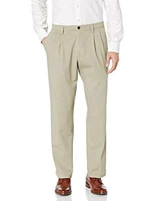 DOCKERS Men's Classic Fit Easy Khaki Pants - Pleated D3, Cloud (Stretch), 42 30 from Dockers Men's Bottoms