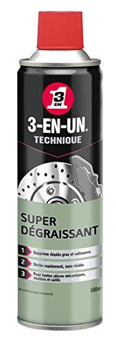 3-EN-UN Technique Super Dégraissant Aérosol Rapide et puissant Ne laisse aucune trace après le nettoyage Sans solvant chloré 500 ML