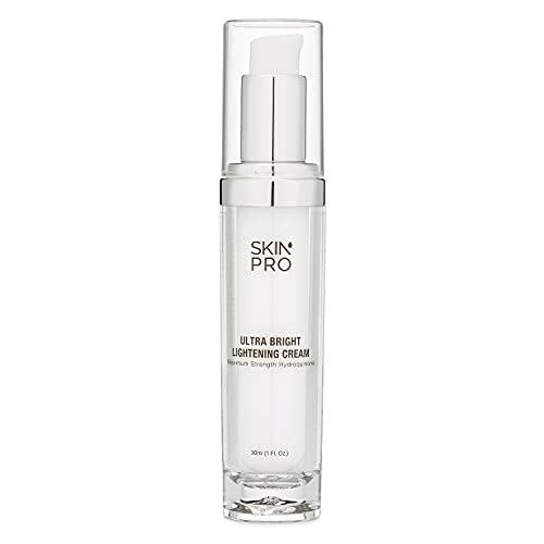 Hydroquinone Skin Lightener & Dark Spot Corrector - SkinPro Medical Grade Skin Care, Fades Uneven Skin Tone and Spots, Skin Lightening Cream for Face and Body