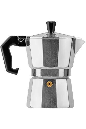 Mixpresso Aluminum Moka stove coffee maker, Moka Pot Coffee Maker for Gas or Electric Stove Top, Classic Italian Coffee Maker (Silver)