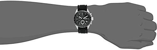 Fossil - CH2573 - Montre Homme - Quartz Analogique - Chronographe - Bracelet en Silicone Noir
