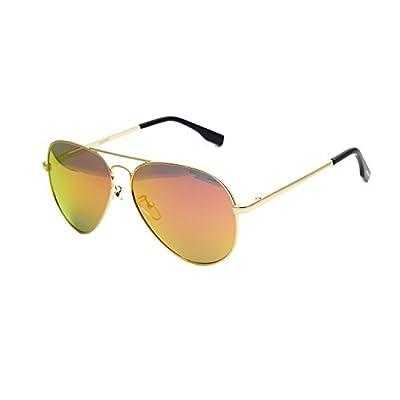 Zacway Polarized Spring Hinges Metal Aviator Sunglasses For Men Women UV400 58mm