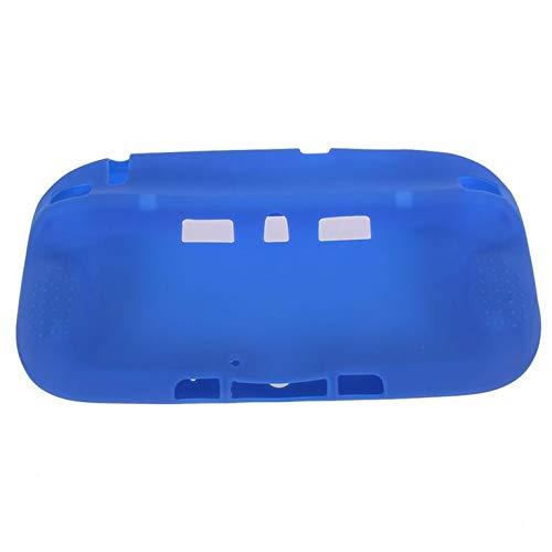 Protector de cuerpo completo de silicona suave para Wii U Gel Funda Cubierta de piel para Nintend WiiU Gamepad Controller - Azul