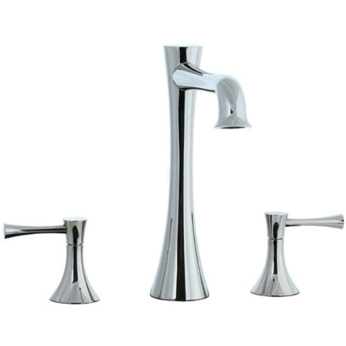 Cifial 245.650.721 Brookhaven Roman Bathtub Faucet with Crown Lever Handles, Polished Nickel
