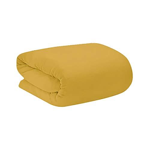 Manta Polar para sofá, Super Soft. Modelo Tíbet 190 X 130 cm. de Colores - Hogar y más - Amarillo Oscuro