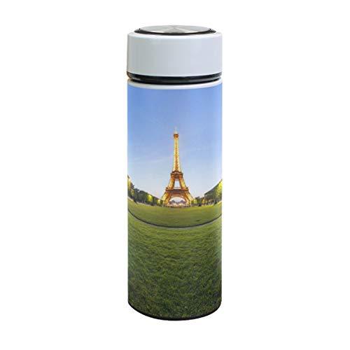 XiangHeFu waterfles thermos houden koud of warm roestvrij staal verjaardag lekvrij Travel Mok Golden Eiffeltoren