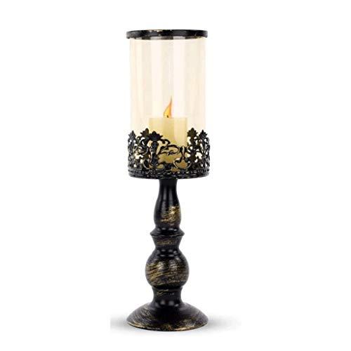 DAGONGREN Bronzo antico Taper Candelieri alta eleganza classica grande for il partito Favor Gifts Matrimoni (Size : M)